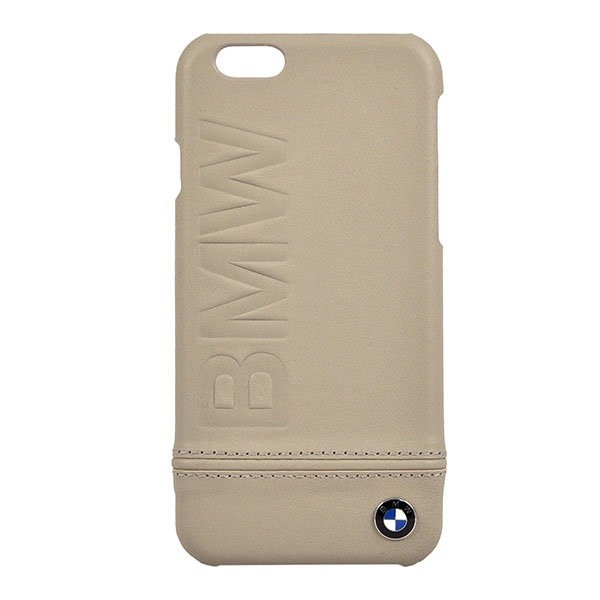 Кожаный чехол BMW Logo imprint Hard для iPhone 6/6s, Taupe