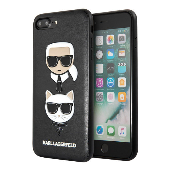 Чехол Karl Lagerfeld Karl and Choupette Hard для iPhone 7 Plus/8 Plus, черный