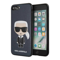 Чехол Karl Lagerfeld Iconic Karl Hard для iPhone 7 Plus/8 Plus, синий