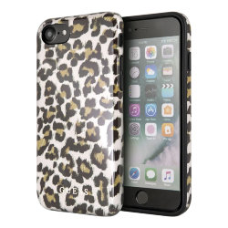 Чехол Guess Los Angeles Hard для iPhone 7/8/SE 2020, Shiny Leopard